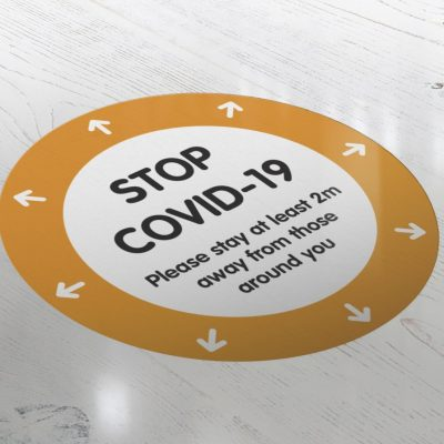 coronavirus floor sticker